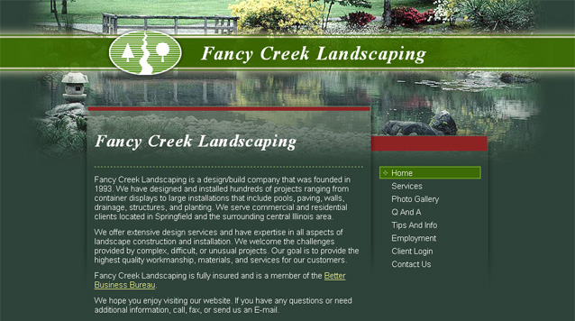 Visit the Fancy Creek Landscaping website